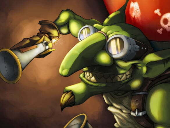 2D Crazy Goblin Fantasy Character Illustration Thumbnail