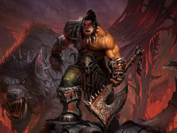 2D Fantasy Orc Warrior Character Illustration Thumbnail