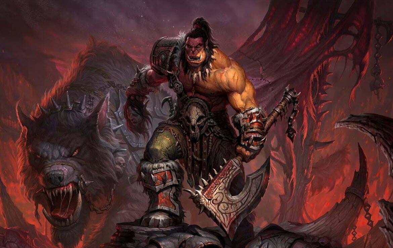 2D Fantasy Orc Warrior Character Illustration Thumbnail