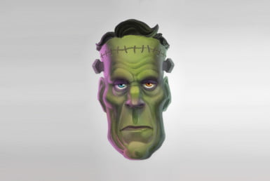 2D Frankenstiens Monster Character Illustration Thumbnail