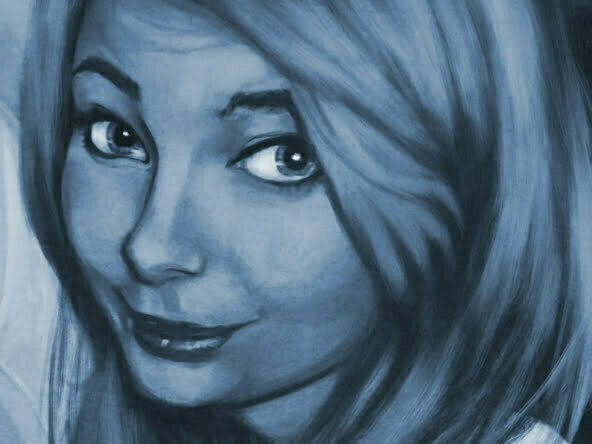 2D Girl Portrait Character Illustration Thumbnail