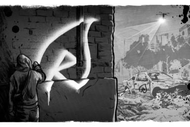 2D Graffiti Artist Character Illustration Thumbnail