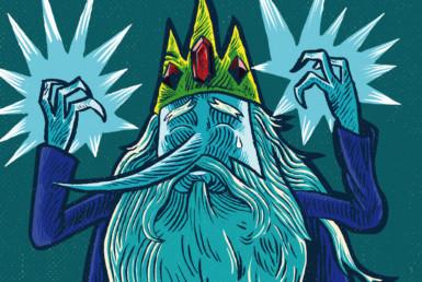 2D Ice King Character Illustration Thumbnail