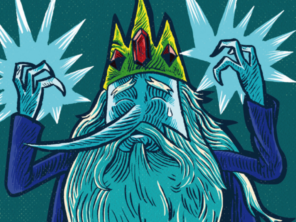 2D Ice King Character Illustration Thumbnail