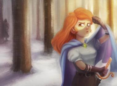 2D Lady Warrior Character Illustration Thumbnail