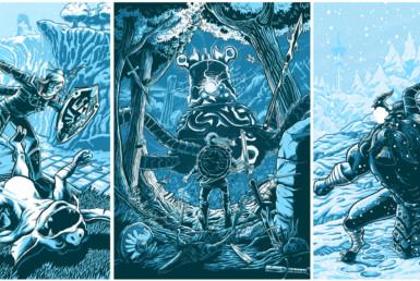 2D Legend of Zelda Breath of the Wild Video Game Illustration Thumbnail