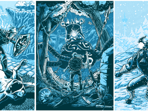 2D Legend of Zelda Breath of the Wild Video Game Illustration Thumbnail