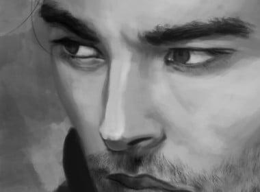2D Male Portrait Character Illustration Thumbnail