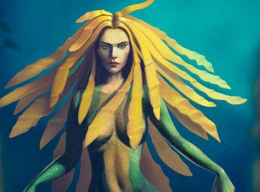 2D Mermaid Fantasy Character Illustration Thumbnail