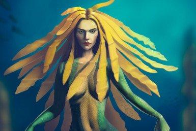 2D Mermaid Fantasy Character Illustration Thumbnail