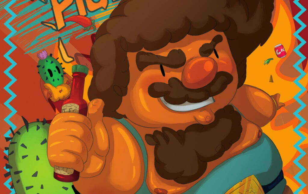 2D Mexican Food Cartoon Advertisement Illustration Thumbnail