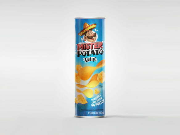 2D Mister Potato Chips Food Packaging Illustration Thumbnail