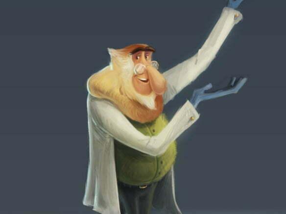 2D Monkey Scientist Character Illustration Thumbnail