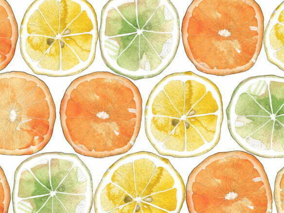 2D Orange Print Food Illustration Thumbnail