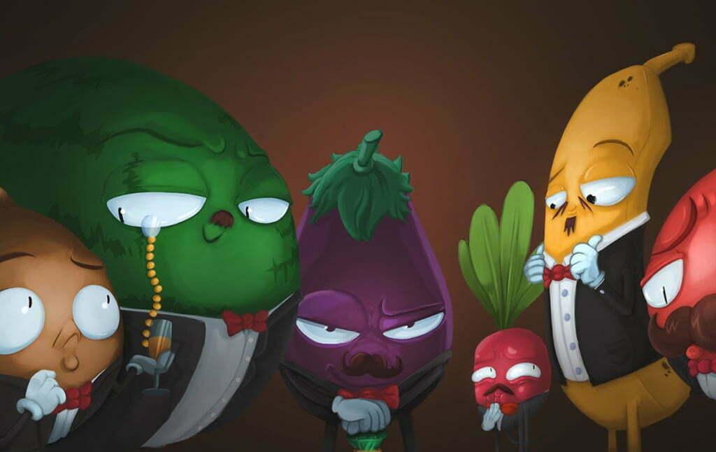 2D Rich Vegetables Character Illustration Thumbnail