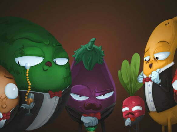2D Rich Vegetables Character Illustration Thumbnail