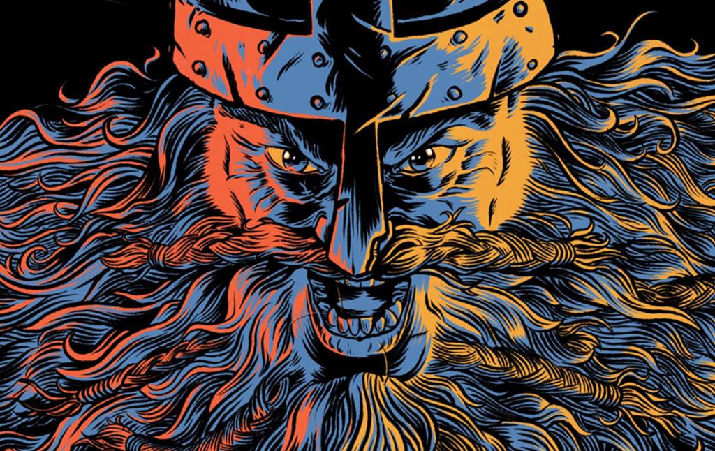 2D Roaring Viking Character Illustration Thumbnail