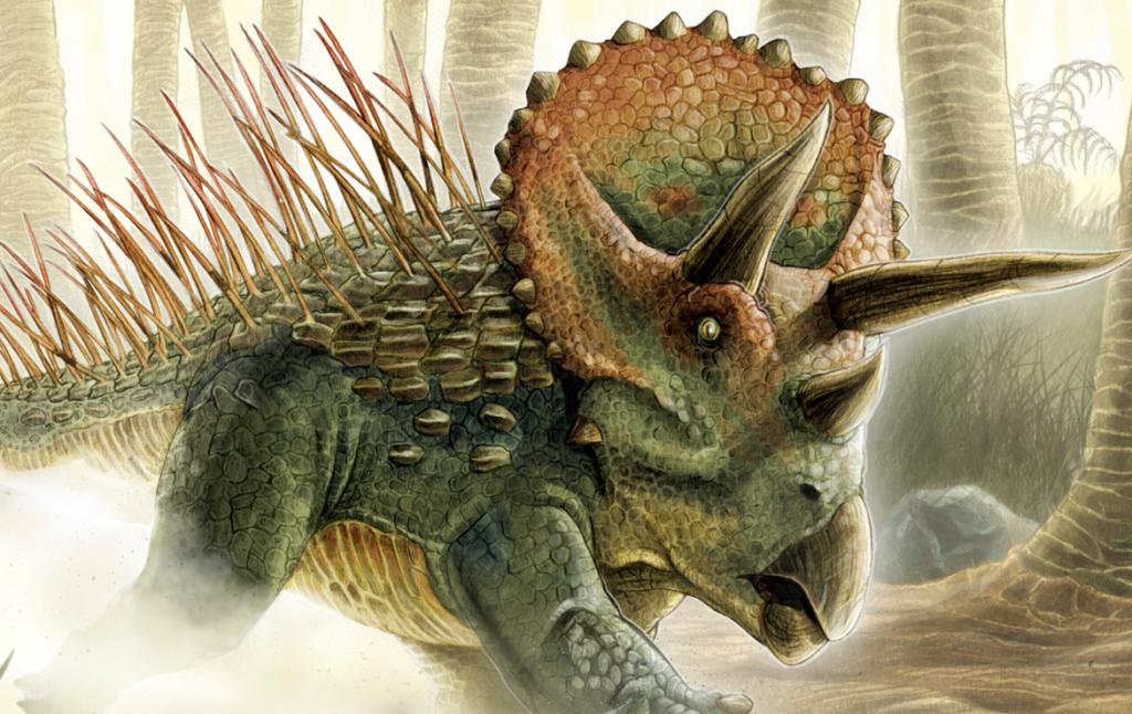 2D Styracosaurus Dinosaur Creature Illustration Thumbnail