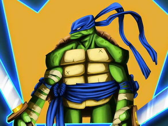 2D Teenage Mutant Ninja Turtle Character Illustration Thumbnail