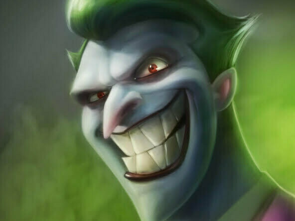 2D The Joker Character Illustration Thumbnail