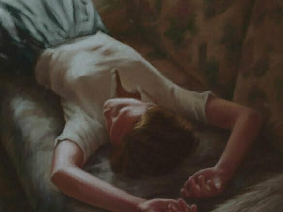 2D Tired Girl Painterly Character Illustration Thumbnail