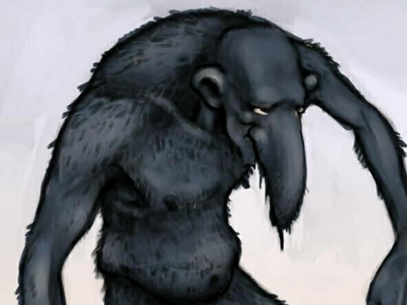 2D Troll Attacking Character Illustration Thumbnail