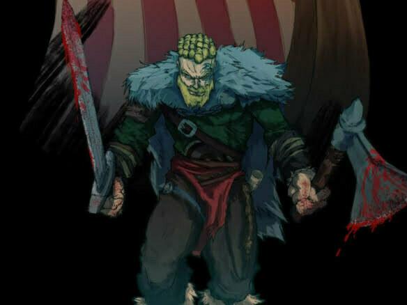 2D Viking Warrior Character Illustration Thumbnail