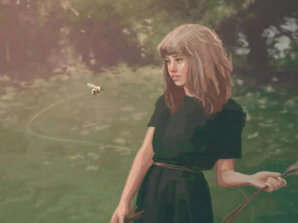 2D Wandering Girl Character Illustration Thumbnail