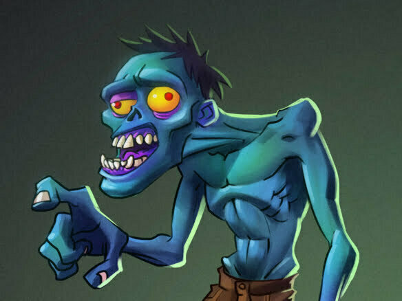 2D Zombie Horror Character Illustration Thumbnail