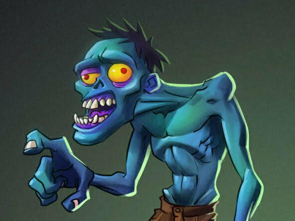 2D Zombie Horror Character Illustration Thumbnail