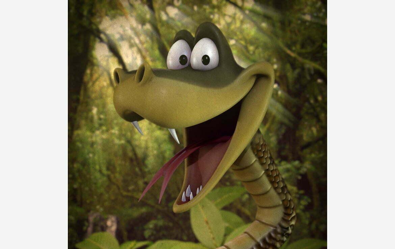 3D Cartoon Snake Character Illustration Thumbnail