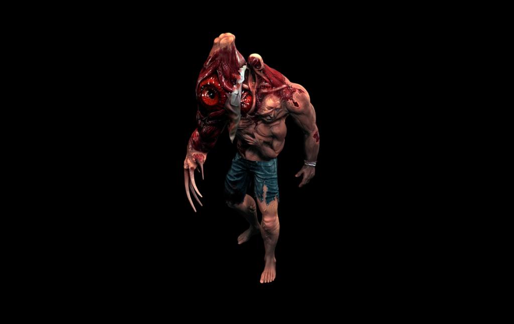 3D Cronenburg Horror Monster Character Illustration Thumbnail