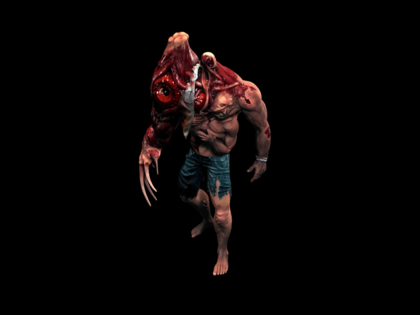 3D Cronenburg Horror Monster Character Illustration Thumbnail