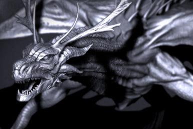 3D Fantasy Dragon Creature Illustration Thumbnail