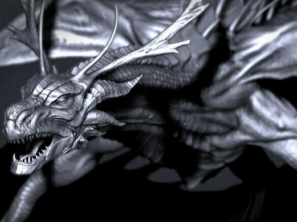 3D Fantasy Dragon Creature Illustration Thumbnail