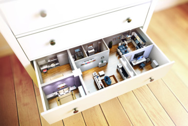 3D Ikea Chest Advertising Illustration Thumbnail