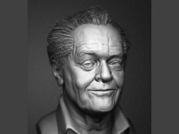 3D Jack Nicholson Character Illustration Thumbnail
