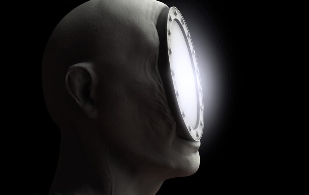3D Mirror Face Monster Character Illustration Thumbnail