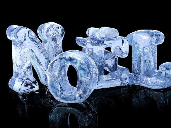 3D Noel Ice Text Illustration Thumbnail