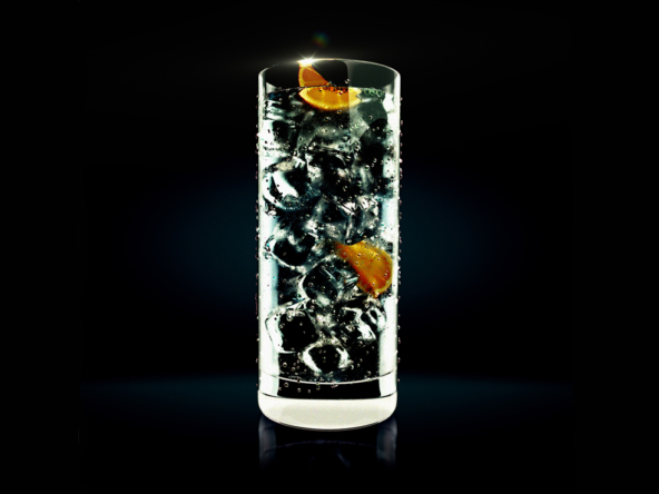 3D Orange Cocktail Drink Illustration Thumbnail