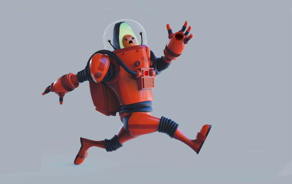 3D Avocado Astronaut Character Illustration Thumbnail