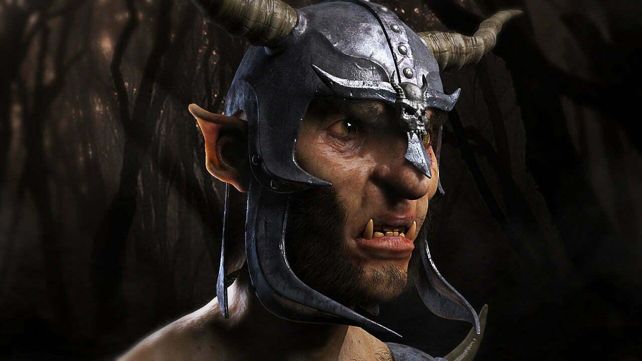 3D Fantasy Goat Creature Illustration