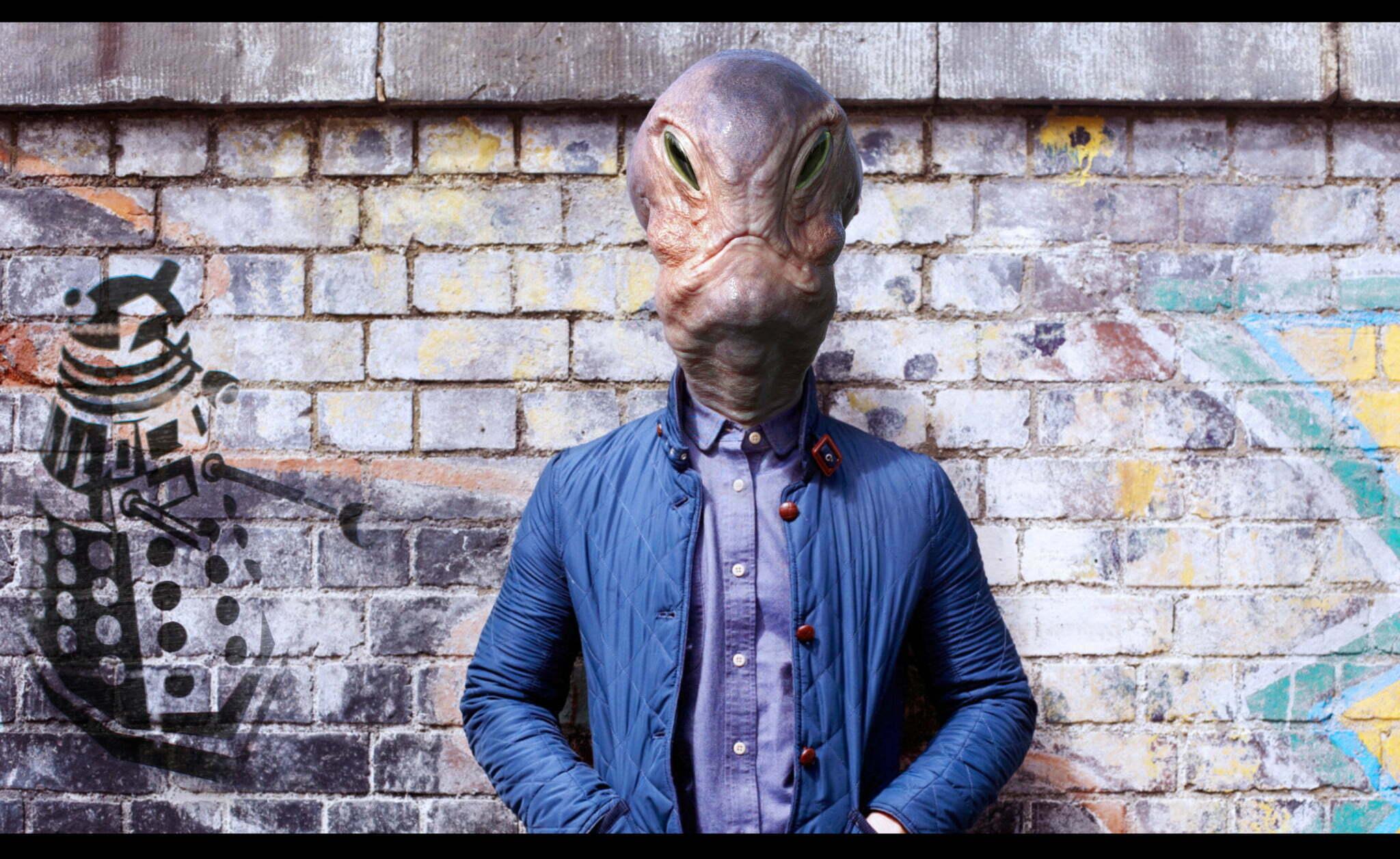 3D Fashionable Alien Creature Illustration