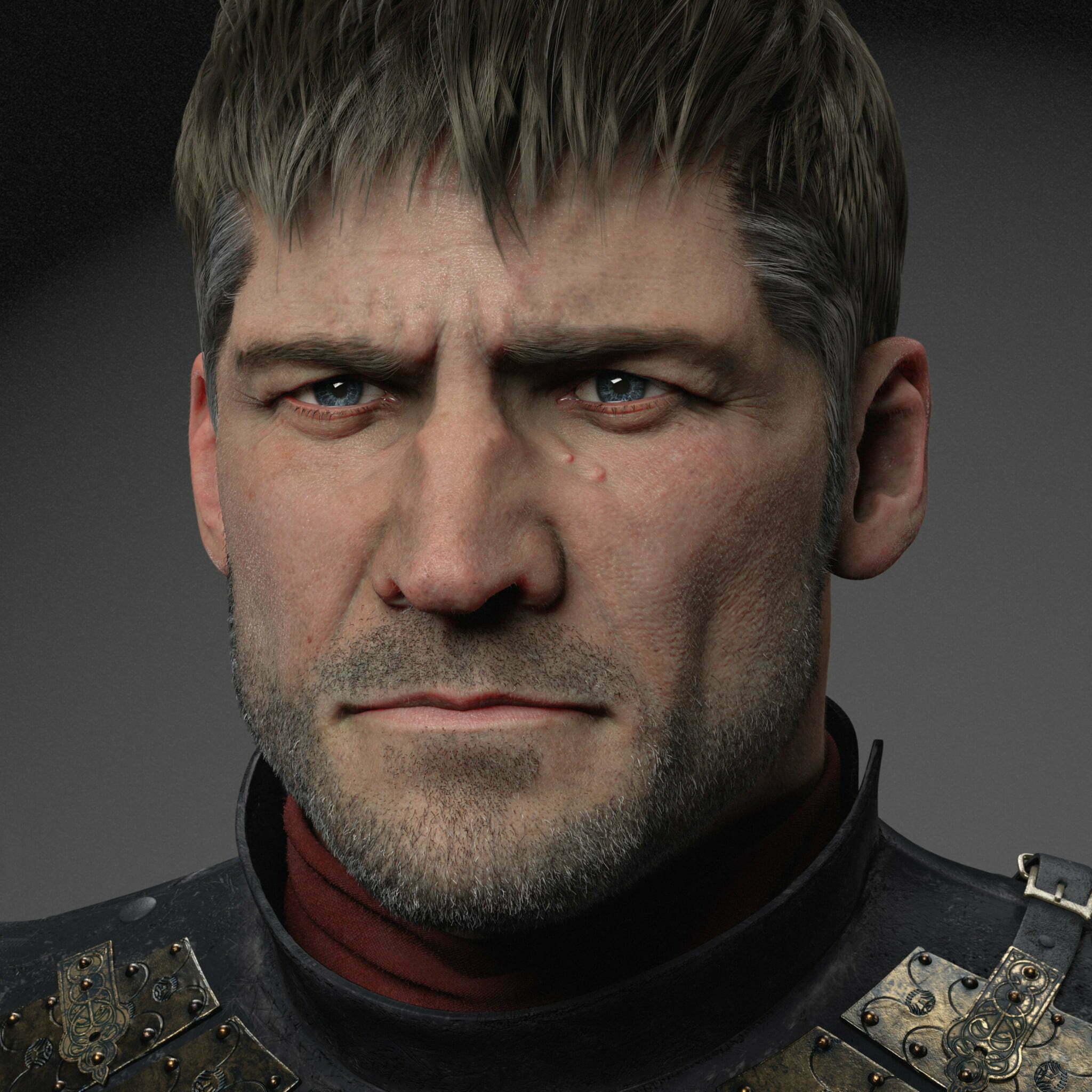 3D Jaime Lannister Knight Character Illustration