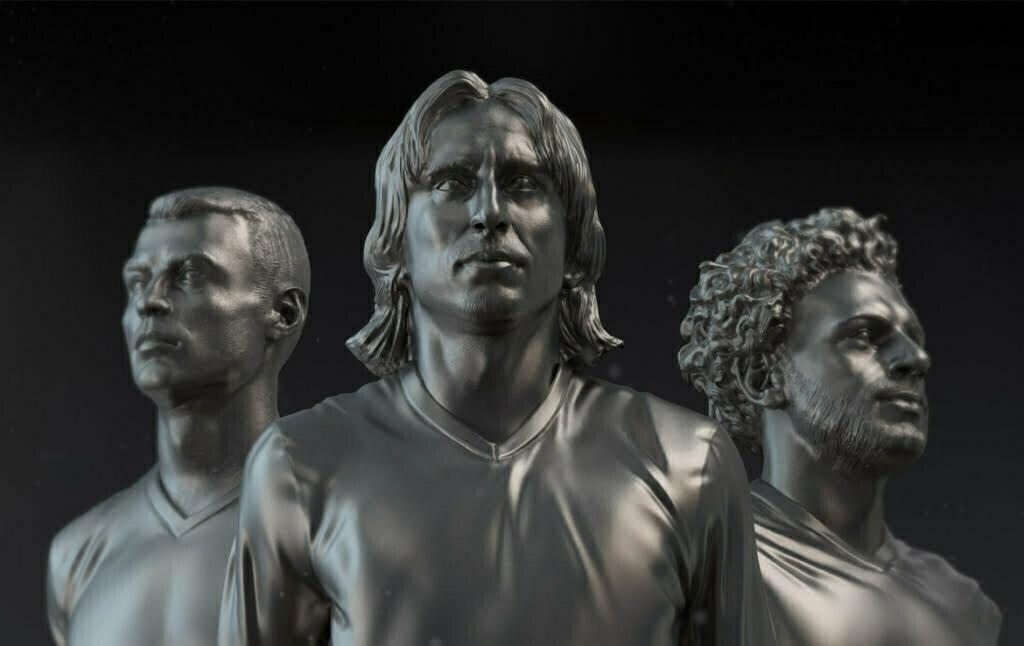 3D Male Football Players Character Illustration Thumbnail