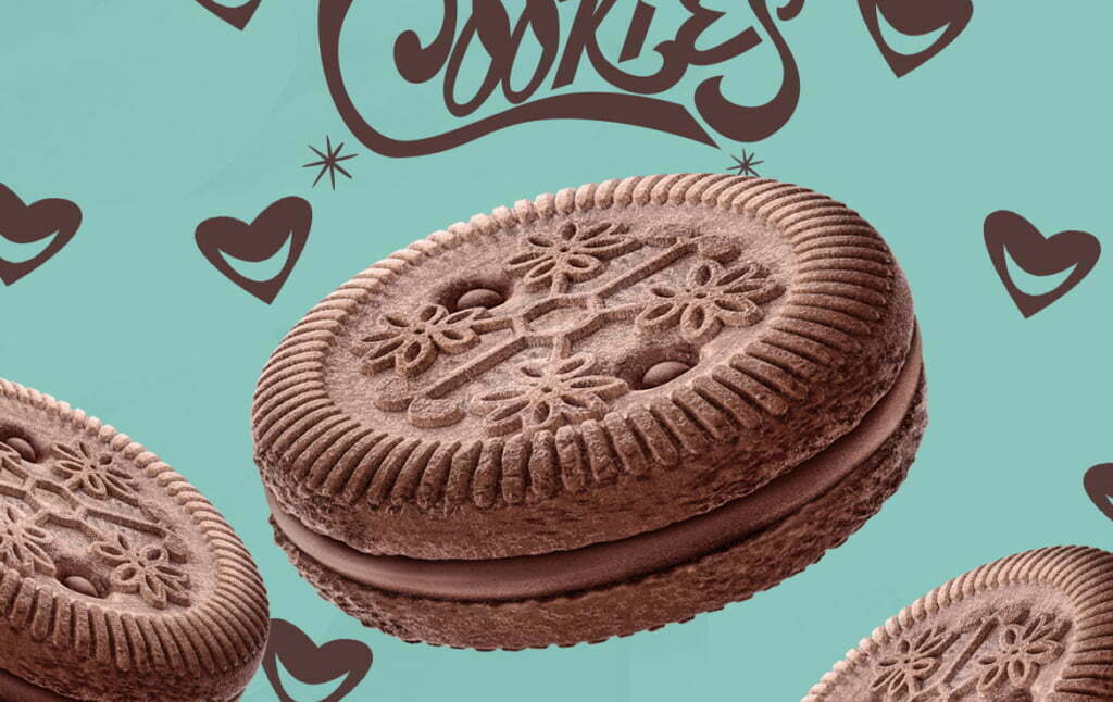 3D Chocolate Flavour Cookies Food Illustration Thumbnail