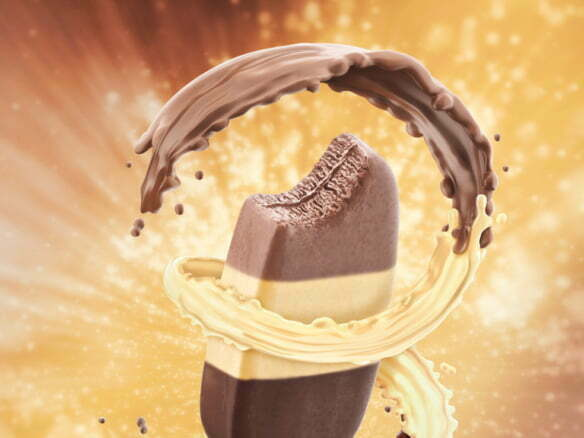 3D Chocolate Icecream Food Illustration Thumbnail