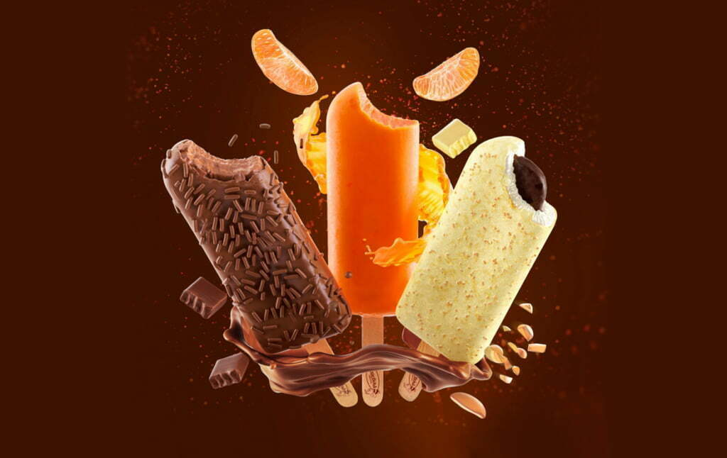 3D Delicious Ice Lolly Flavours Food Illustration Thumbnail
