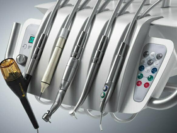 3D Dentist Tool Rack Medical Illustration Thumbnail