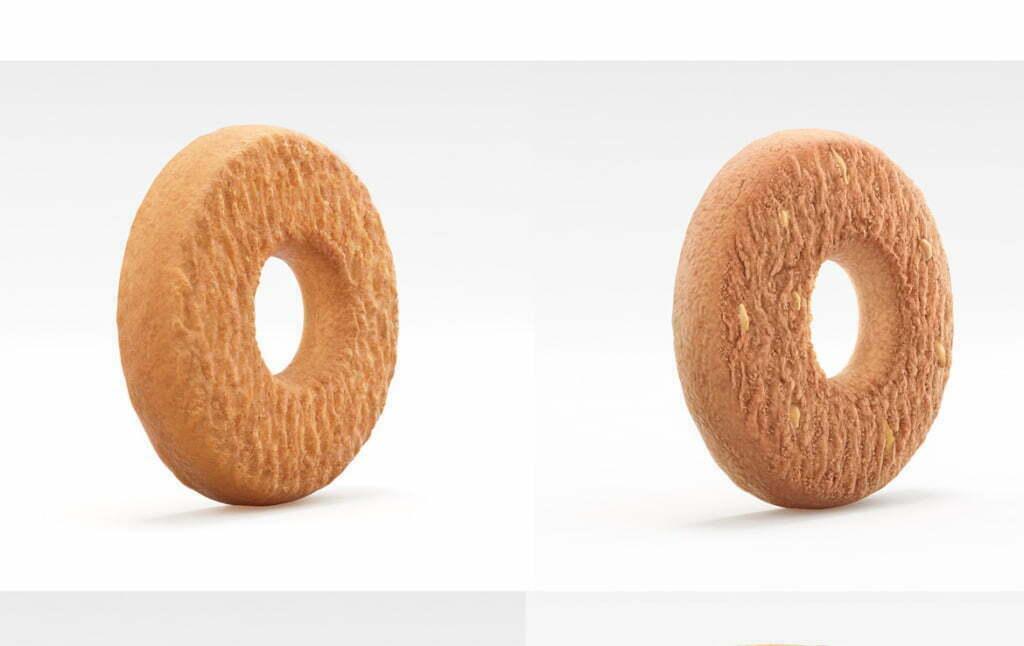 3D Luxury Italian Biscuits Food Illustration Thumbnail